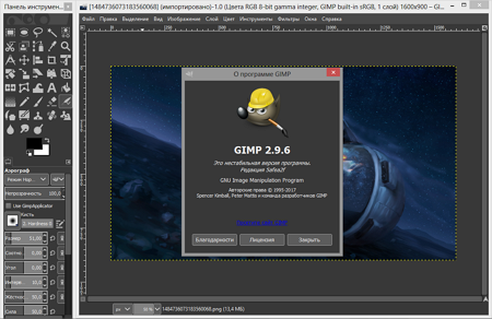 screenshot-GIMP Editor